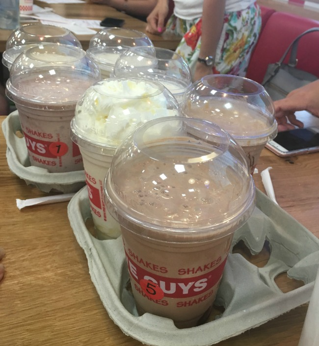 11-mums-and-five-guys-meetup-red-dragon-centre-cardiff-milkshakes