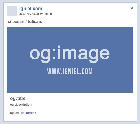 Cara Memasang Kode Meta Tag Facebook Open Graph yang Benar - igniel.com