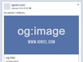 Cara Memasang Kode Meta Tag Facebook Open Graph yang Benar