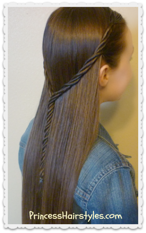 Licorice braid half up hairstyle tutorial