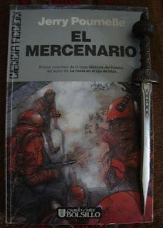 Portada del libro El mercenario, de Jerry Pournelle