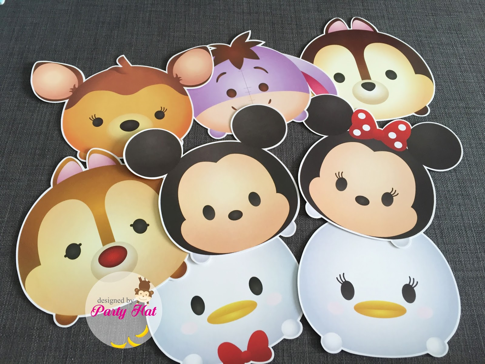 Party Hat Disney Tsum Tsum 1 Year Old Birthday For Jayden