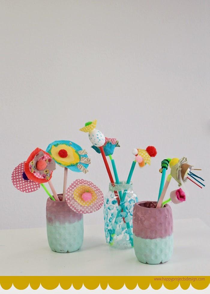 Reciclaje: Flores Upcycling