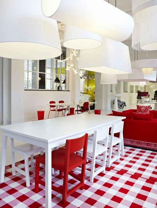 Red And White Tile Floor Flooring Ideas And Inspiration