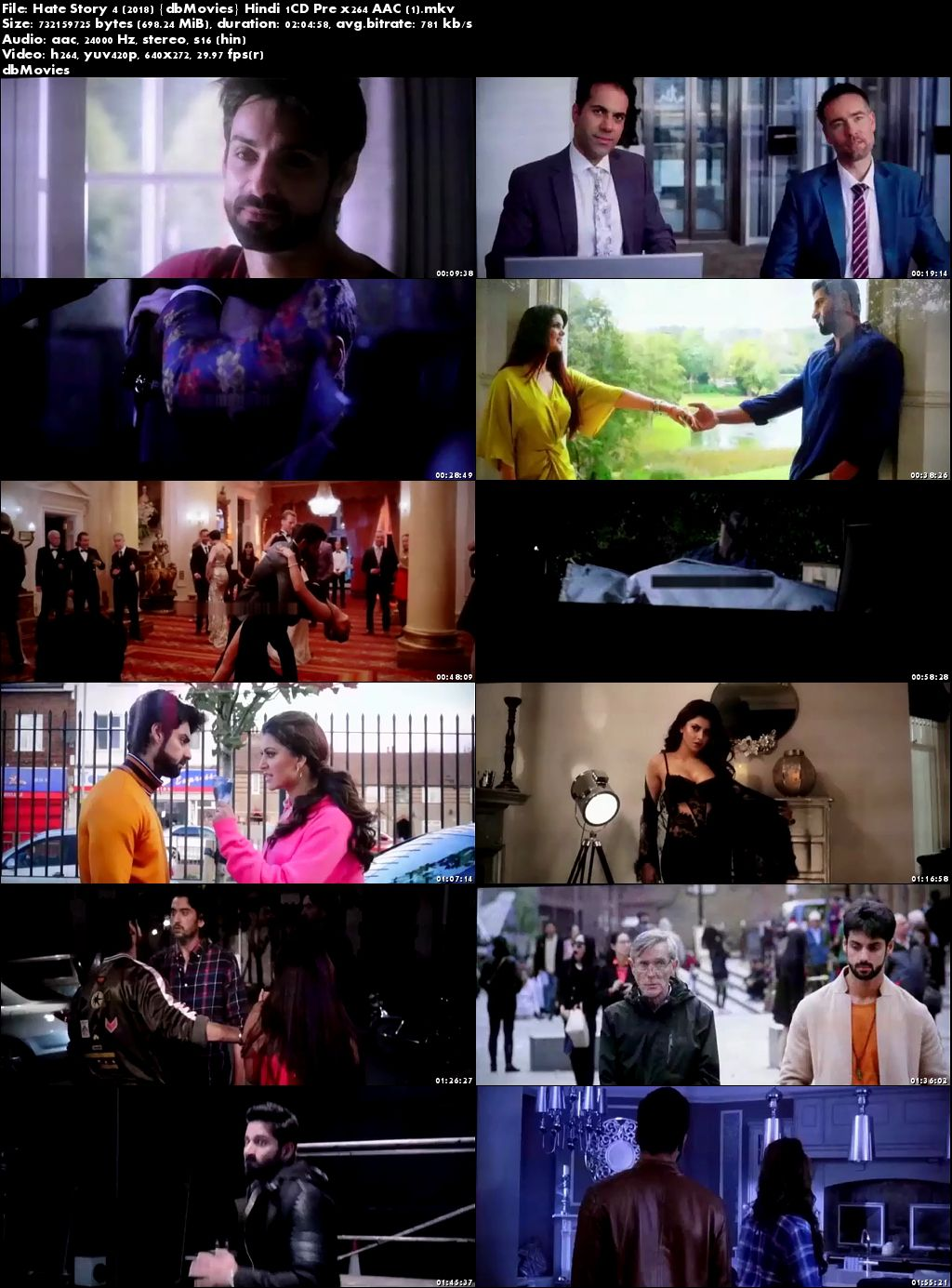 Screen Shots Hate Story 4 2018 Full Movie Download Hindi Pre-DVDRip x264