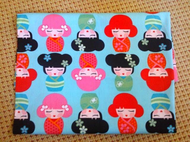 """tela de la colección """"Hello Tokyo"""" de Robert Kaufman de funkypatch"""