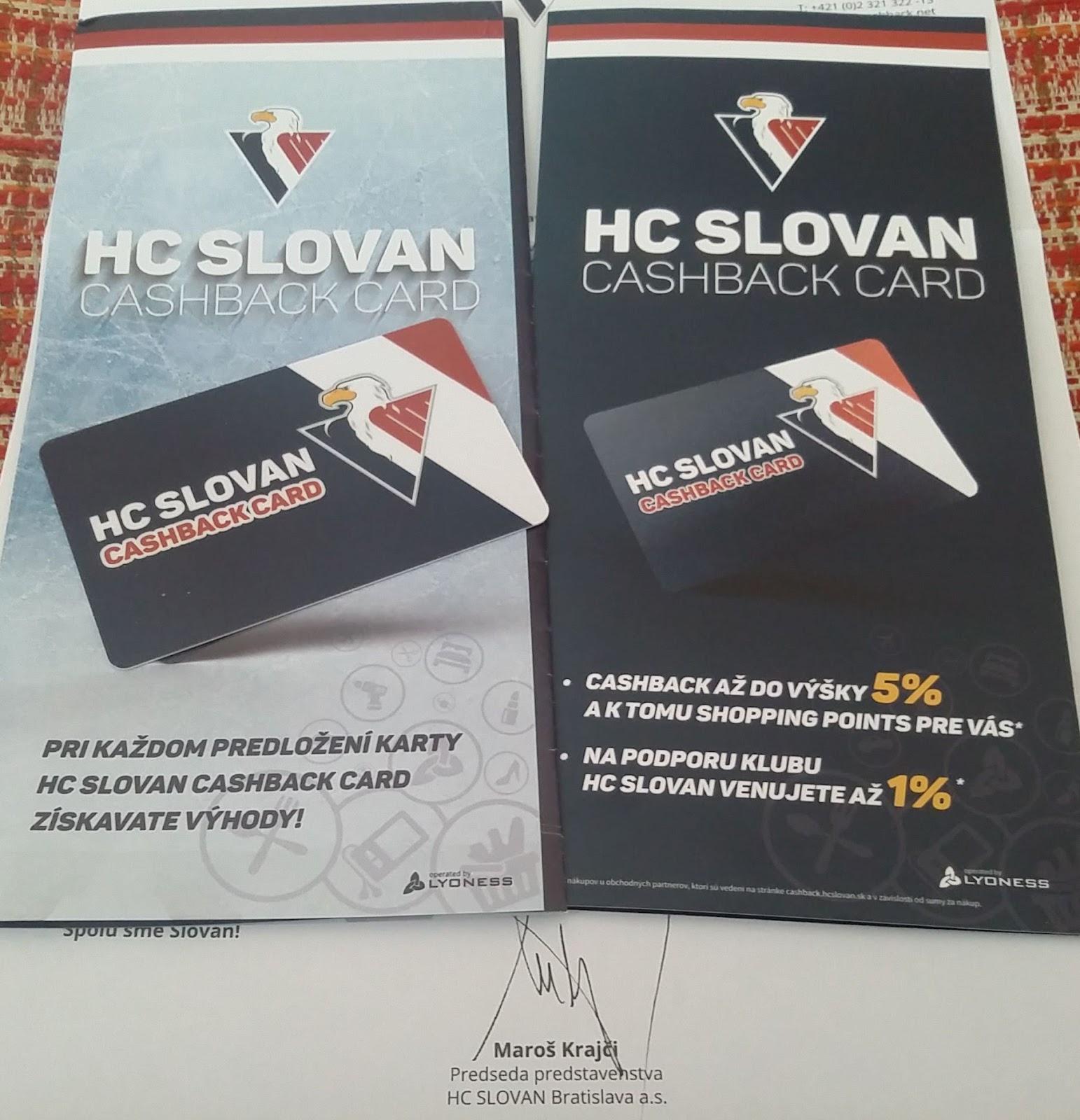 Hc Slovan Bratislava Spustil Svoji Klubovou Cashback Kartu Na