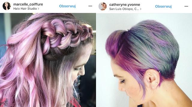 różowe włosy zdjęcia