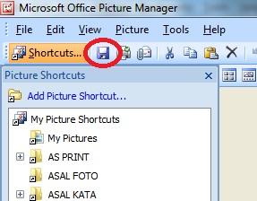 Ketujuh, setelah selesai silahkan simpan dengan cara tekan Ctrl + S di keyboard sahabat atau klik menu (icon) Save, perhatikan gambar yang dilingkari dibawah ini.