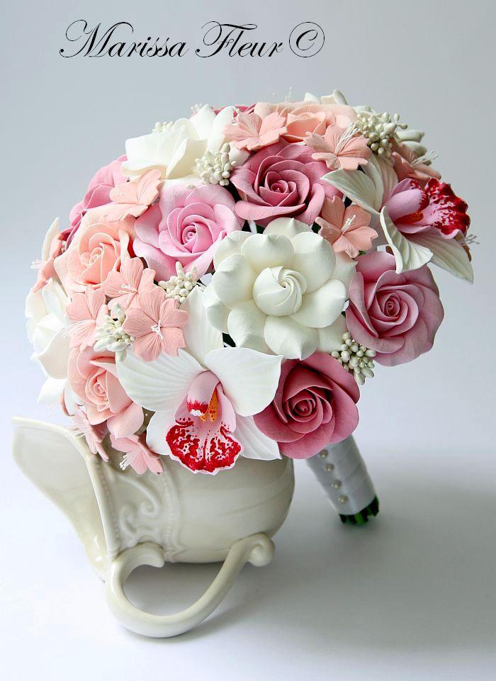 A Touch Of Beauty Bridal Bouquet With Cymbidium Orchids
