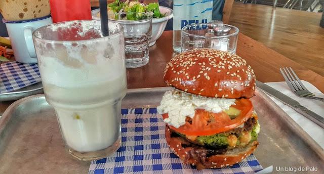Hamburguesa vegetariana Jamie Oliver's Diner