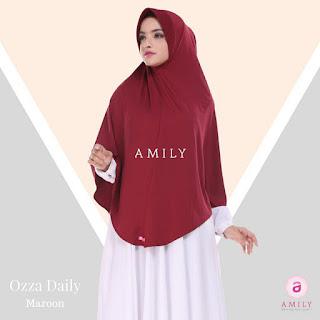 Hijab Amily Ozza Daily Maroon
