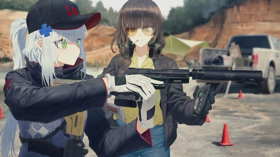 Anime, Girls Frontline, HK416, M16A1, 4K, #6.1286
