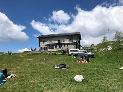 View of Rifugio Gherardi.
