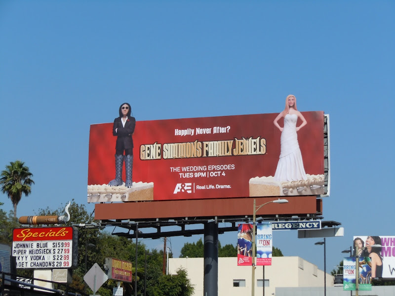 Gene Simmons Family Jewels wedding billboard