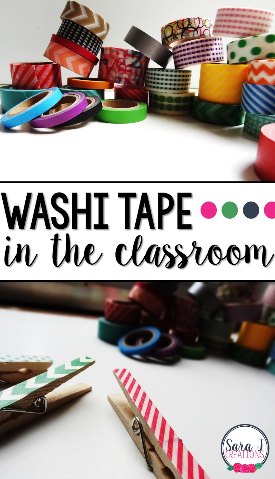 Ideas for using washi tape in the classroom.  Teachers this one is for you!