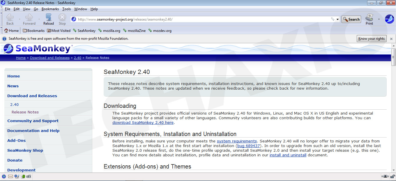 SeaMonkey Browser Screenshot