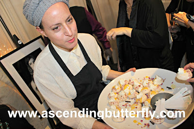 Chef Tessa Liebman presents Pavlova Pastry at #Sniffapalooza #SniffaVoluptuary event @Maisonten in New York City
