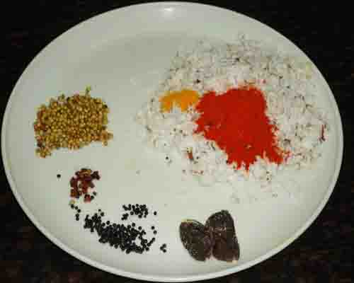 ingredients to make masala paste