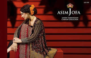 Asim Jofa luxury Embroidered Chiffon Collecton