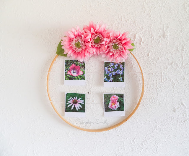 DIY Hanging Picture Display Idea