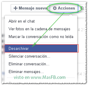 Cancalar archivar en Facebook - MasFB