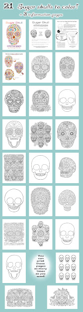 All Sugar Skull Coloring Pages By Thaneeya