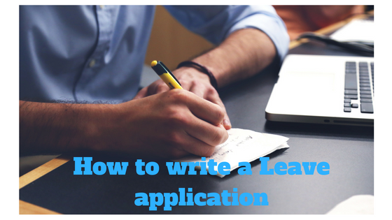 how to write application to principal for sick