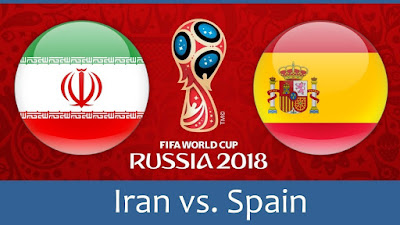 Live Streaming Iran vs Spain Piala Dunia 21.6.2018