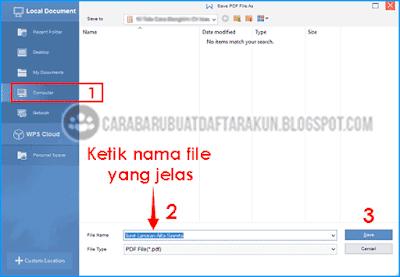 cara membuat file pdf di wps