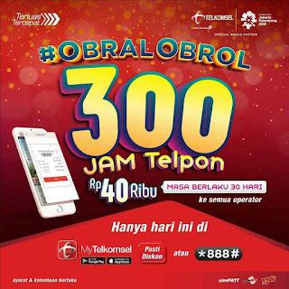 Paket Nelpon Obral Obrol Telkomsel 300 Jam Hanya 40 Ribu