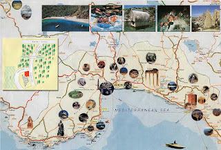 Mapa de la zona de Antalya.