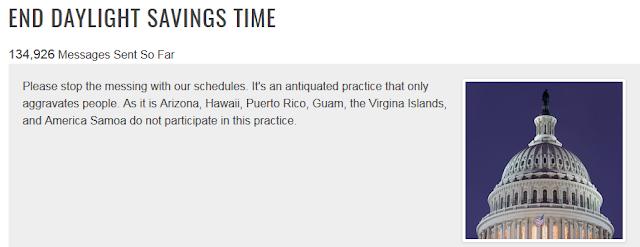 End Daylight Savings Time petition abolish congress United States