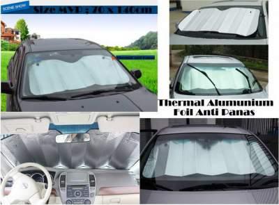 Pelindung Kaca Mobil dari Sinar Matahari / Sun Shield Size 140 x 70