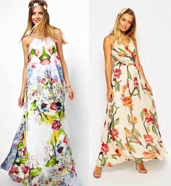 vestido largo de flores