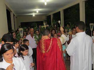 Santa Missa do Domingo de Ramos em Almino Afonso - RN