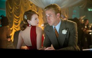 Emma Stone y Ryan Gosling en Gangster Squad (Brigada de élite)
