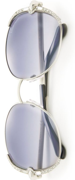 Roberto Cavalli 56MM Swarovski-Embellished Metal Sunglasses