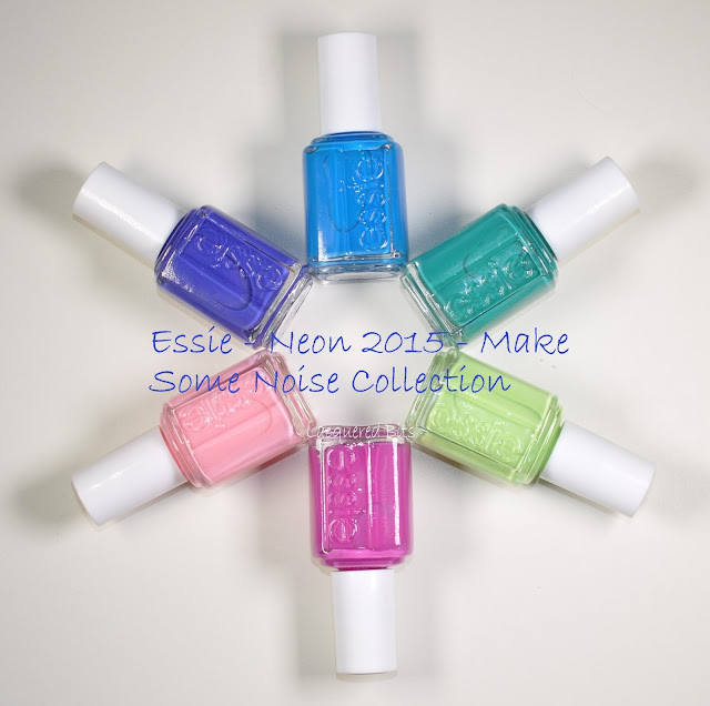 Essie Neon 2015 - Make Some Noise Collection - Swatches & Review - Lacquered Bits
