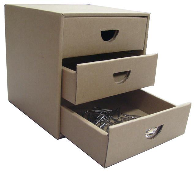 Cardboard Desktop Storage Box Modern Filing Cabinets