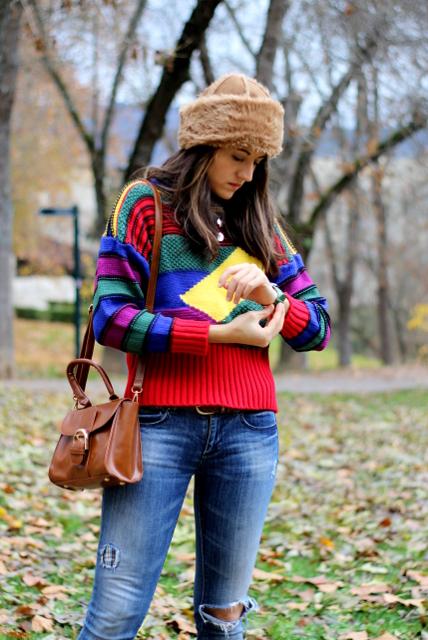 Multicolor y botas calentitas