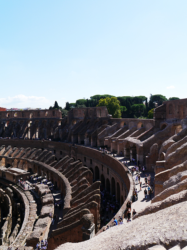 View of the Colosseum from the third tier
