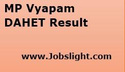 MP Vyapam DAHET Result