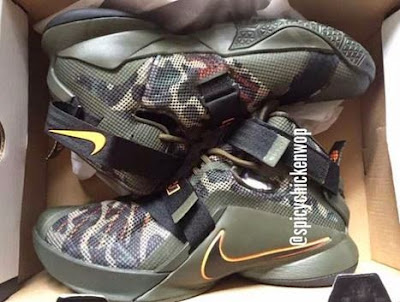 best website f7fe2 54359 Here is a look via SCW at the Nike LeBron Soldier 9 Camo Sneaker, no  release date yet but definitely keep you all posted. Peep more after the  jump.