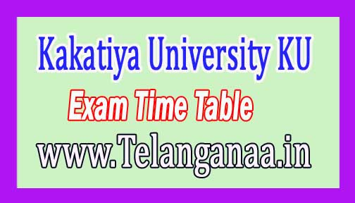Kakatiya University (KU) Diploma I Sem Exam Time Table 2016 Download