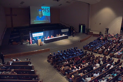 wide shot view of 2015 ceremony