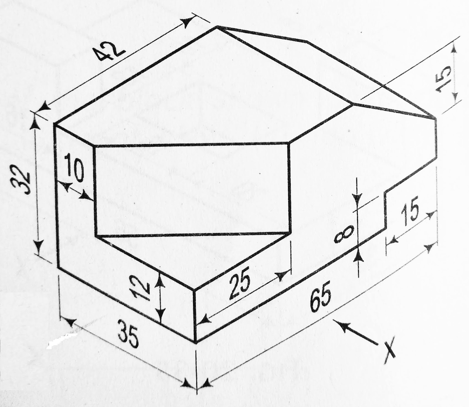 Orthographic Projection Problem 5 With 3 D Model And Live