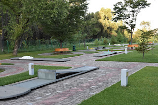 Miniature Golf course in Pyongyang, North Korea. Photo by Dylan Harris of Lupine Travel