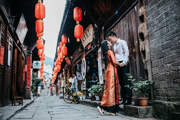 Bật mí kinh nghiệm chụp ảnh cưới cho các cặp đôi tại Trung Quốc