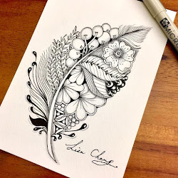 doodle zentangle drawings hand drawn lisa stack designstack press enlarge